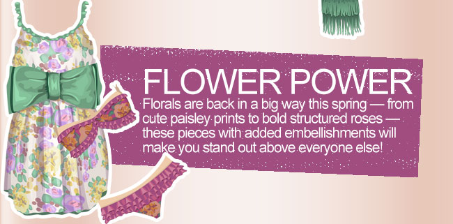 Florals are back in a big way this spring - from cute paisley prints to bold structured roses - these pieces with added embellishments will make you stand out above everyone else!